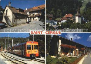 St Cergue Train Nyon Saint Cergue Morez Maison de village Kat. St Cergue