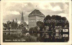 Demmin Mecklenburg Vorpommern Kirche Hafen  Kat. Demmin