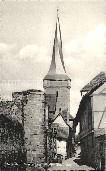 Duderstadt Westerturm Alter Stadtmauer  Kat. Duderstadt