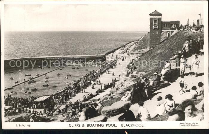 Blackpool Cliffs and Boating Pool Kat. Blackpool