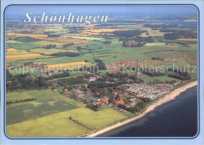 Brodersby Schleswig Schoenhagen Fliegeraufnahme Kat. Brodersby