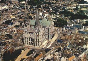 Chartres Eure et Loir Cathedrale vue aerienne Kat. Chartres