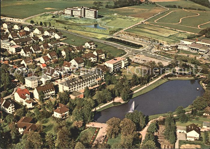 Bad Meinberg Kurparksee Sanatorien Kurklinik Park Fliegeraufnahme Kat. Horn Bad Meinberg