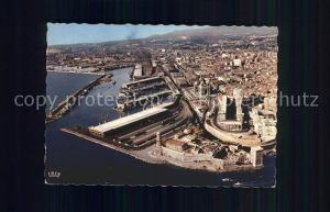 Marseille Fliegeraufnahme Port Bassin de la Joliette Kat. Marseille