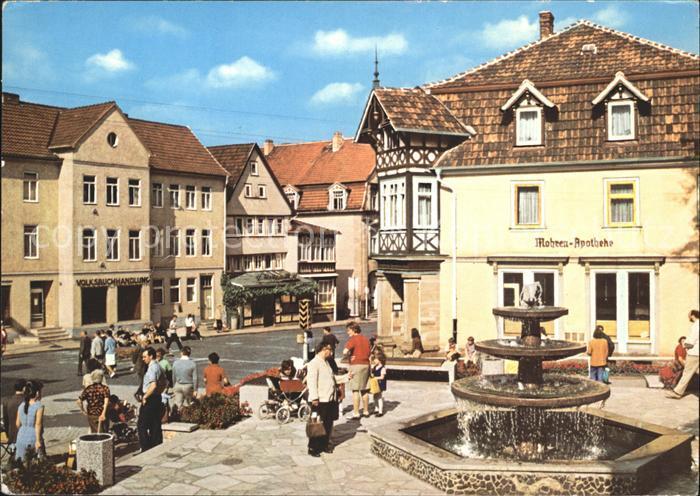 Bad Salzungen Markt Mohren Apotheke Brunnen Kat. Bad Salzungen