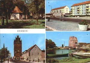 Demmin Mecklenburg Vorpommern Marienhain Neubauten am Markt Luisentor Hafen Kat. Demmin