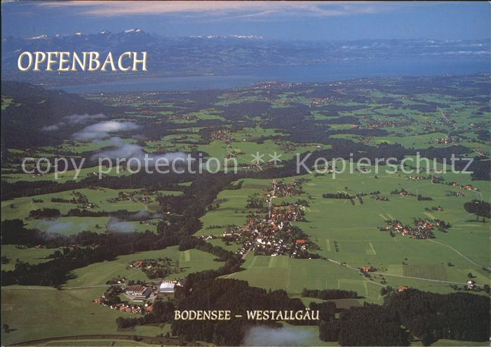 Opfenbach Fliegeraufnahme Kat. Opfenbach