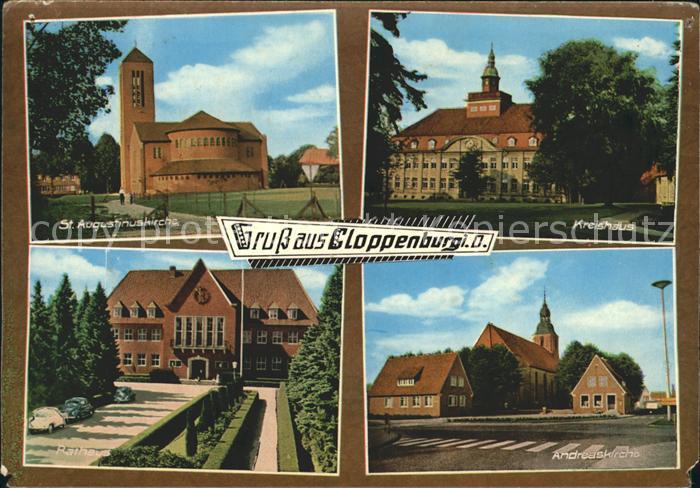 Cloppenburg Andreaskirche Rathaus Kreishaus Sankt Augustinuskirche Kat. Cloppenburg