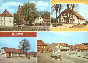 Kluetz Wismarsche Strasse Ferienheim des VEB DEFA Kopierwerke Berlin Markt HOG Kluetzer Eck Kat. Kluetz
