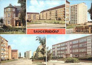 Sandersdorf Sachsen Anhalt August  Bebel  Schule Hochhaus Am Ring der Chemiearbeiter Kat. Sandersdorf Sachsen Anhalt