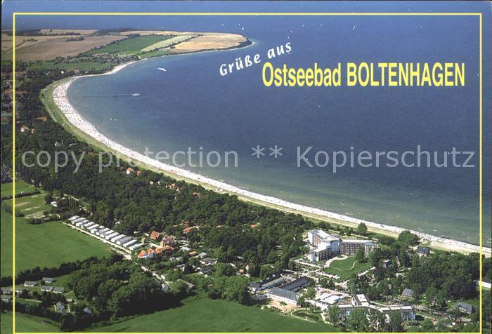 Boltenhagen Ostseebad Fliegeraufnahme mit Strand Kat. Ostseebad Boltenhagen