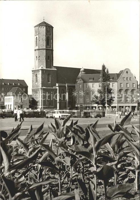 Jena Markt mit Stadtkirche Kat. Jena