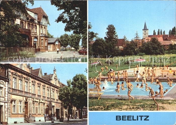Beelitz Mark Schwimmbad HOGasstaette Stadt Beelitz / Beelitz /Potsdam-Mittelmark LKR