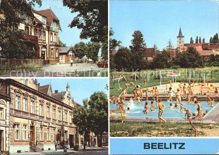Beelitz Mark Schwimmbad HO Gaststaette Stadt Beelitz / Beelitz /Potsdam-Mittelmark LKR