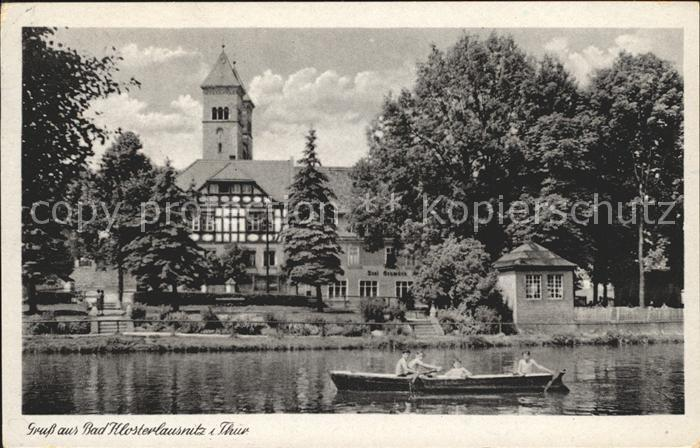 Bad Klosterlausnitz Bootspartie Kirche Kat. Bad Klosterlausnitz