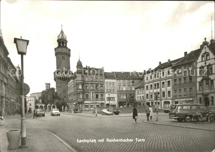 Goerlitz Sachsen Leninplatz mit Reichenbacher Turm Kat. Goerlitz