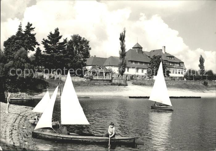 Malter Talsperre Malter HO Hotel Haus Seeblick Paulsdorf Segelboote Kat. Dippoldiswalde