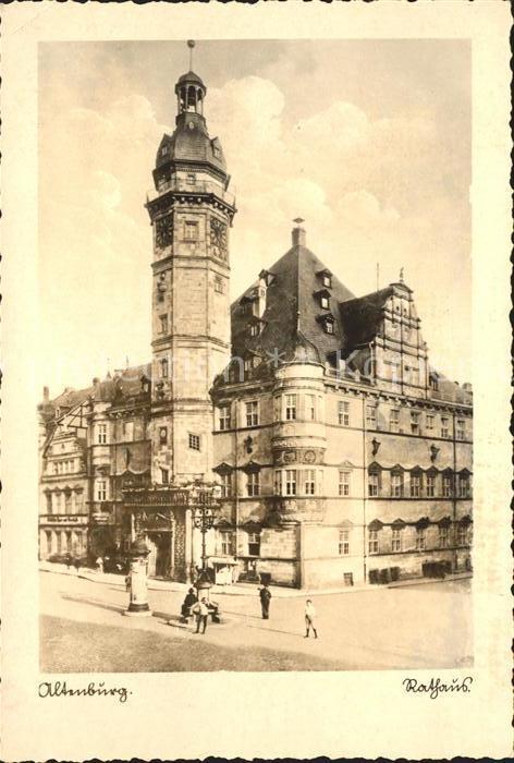 Altenburg Thueringen Rathaus Kat. Altenburg