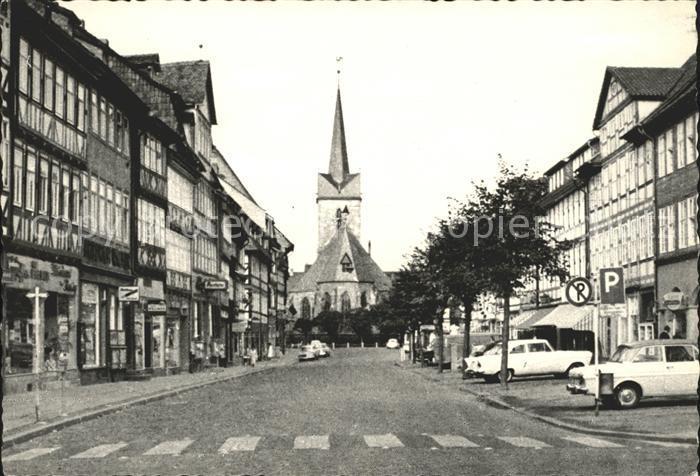 Duderstadt Marktstrasse mit St. Servatius Kirche Kat. Duderstadt