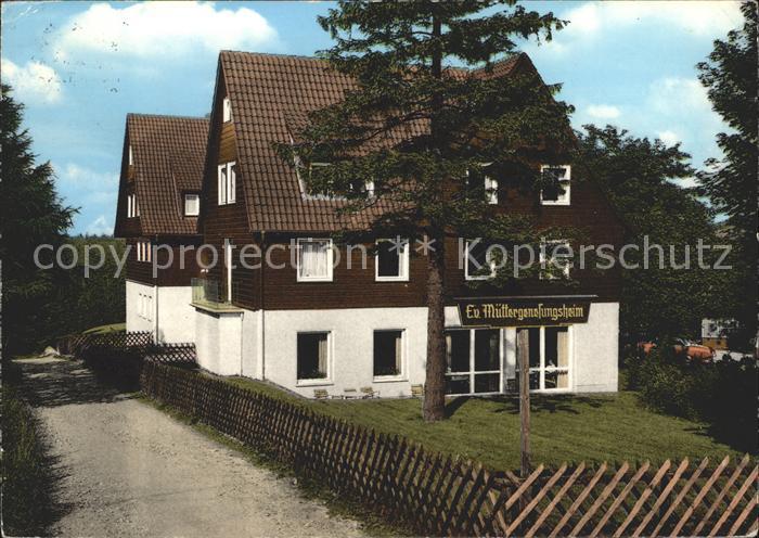 Hahnenklee Bockswiese Harz Muettergenseungsheim Haus Tannenhof Kat. Goslar