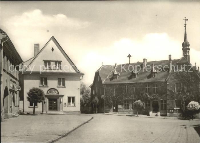 Hecklingen Stassfurt Rathaus und Sparkasse Kat. Hecklingen Stassfurt