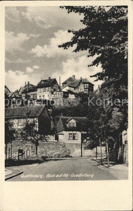Quedlinburg Alt  Quedlinburg Kat. Quedlinburg