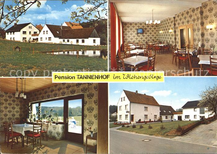 Oldendorf Wiehengebirge Pension Tannenhof Kat. Melle