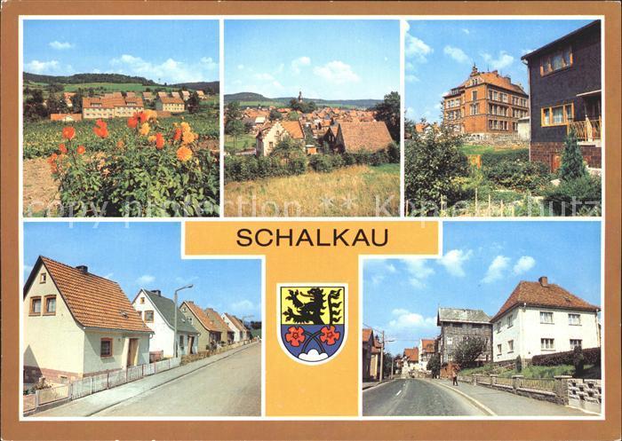 Schalkau Bahnhofstrasse Karl  Marx  Siedlung Kat. Schalkau