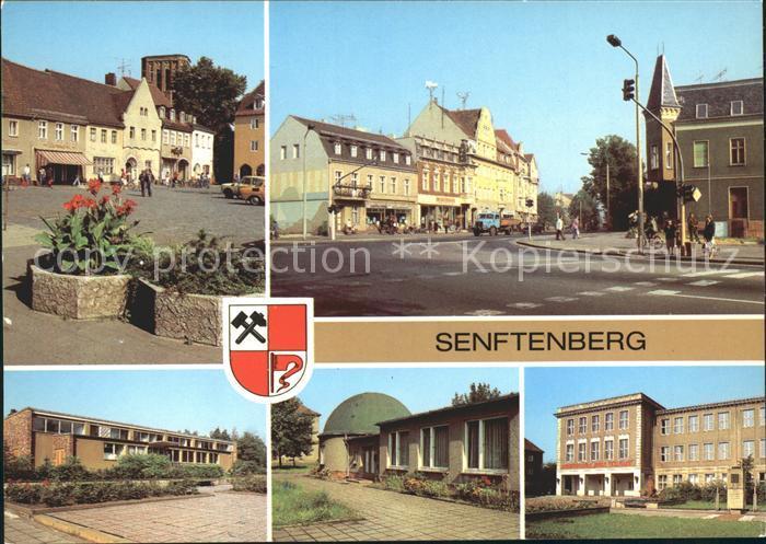 Senftenberg Niederlausitz Platz der Freundschaft Schwimmhalle Planetarium Kat. Senftenberg