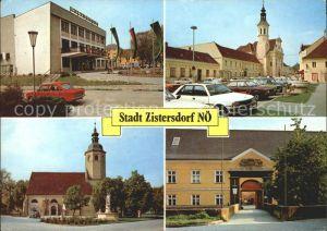 Zistersdorf mit Kulturhaus Kirchenplatz Maria Moos und Berufsschule Kat. Zistersdorf