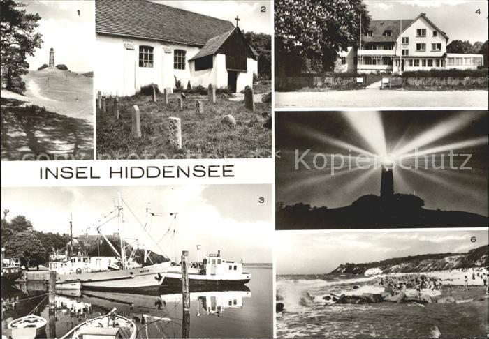 Insel Hiddensee Leuchtturm Kirche Hafen FDGB Erholungsheim Hitthim Strand Kat. Insel Hiddensee