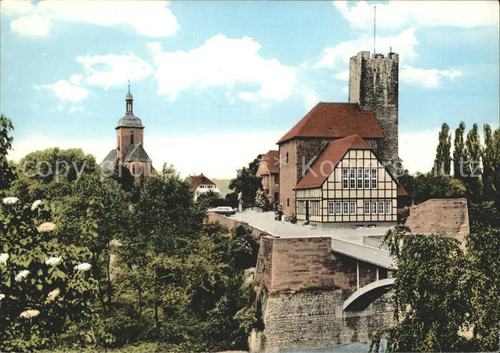 Laufen Sulzbach Laufen mit Regiswindiskirche Pfalzgrafenburg Kat. Sulzbach Laufen