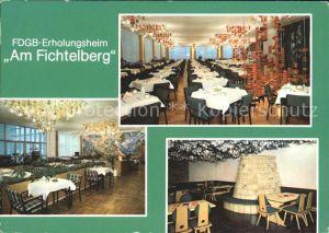 Fichtelberg Oberwiesenthal FDGB Erholungsheim Fichtelberg Kat. Oberwiesenthal