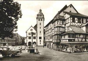 Mosbach Baden Palmsches Haus Rathaus / Mosbach /Neckar-Odenwald-Kreis LKR
