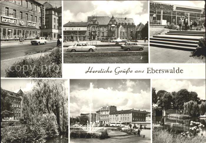 Eberswalde Friedrich Ebert Strasse Platz Freundschaft IFA Vertrieb Wehr Bruecke Kat. Eberswalde Waldstadt