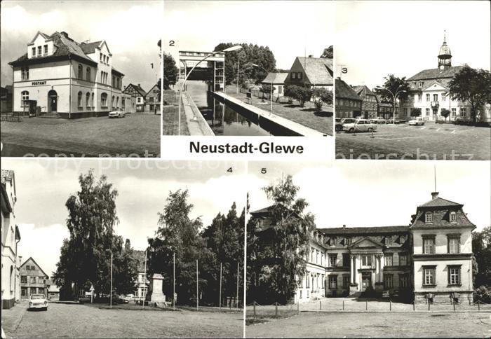 Neustadt Glewe Postamt Schleuse Rathaus Schloss Kat. Neustadt Glewe