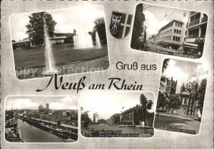 Neuss Stadthalle Buechel Niederstrasse Quirinus Muenster Berliner Platz Christ Koenig Kirche Hafen  / Neuss /Rhein-Kreis Neuss LKR