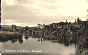 Naumburg Saale mit Saale und Schoenburg Kat. Naumburg