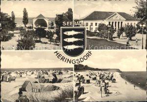 Heringsdorf Ostseebad Usedom Strand Kurhaus  Kat. Heringsdorf