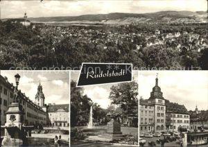 Rudolstadt Blick vom Hain Schlosshof Platz ODF Marktplatz Kat. Rudolstadt