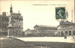 Saint Germain en Laye Le Chateau l Eglise et la Gare Kat. Saint Germain en Laye