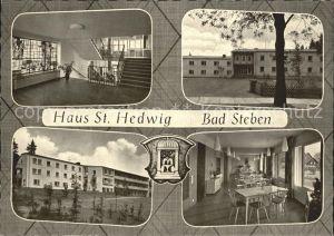 Bad Steben Muettergenesungsheim Haus St Hedwig Speisesaal Treppenaufgang Kat. Bad Steben
