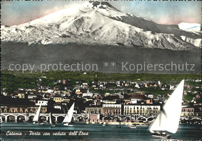 Catania Porto con veduta dell Etna Kat. Catania