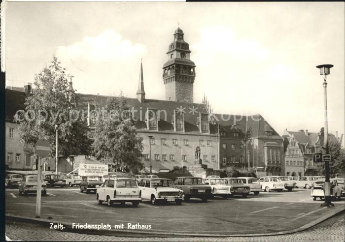 Zeitz Friedensplatz Rathaus Kat. Zeitz