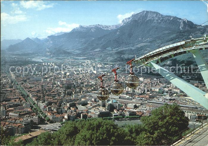 Grenoble Vue du telepherique de la Bastille Pomagalski Moucherotte Kat. Grenoble