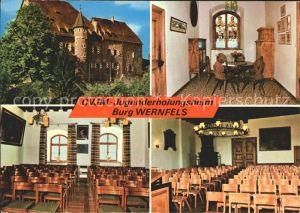 Wernfels DVJM Jugenderholungsheim Burg Wernfels Zimmer Saal Kat. Spalt