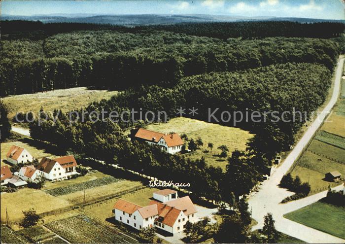 Meerhof Waldhaus Privatpension Wuellner Fliegeraufnahme Kat. Marsberg