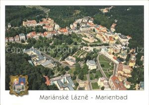 Marianske Lazne Marienbad Fliegeraufnahme Kat. Marienbad