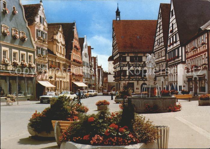Oettingen Marktplatz Brunnen Kat. Oettingen i.Bay.