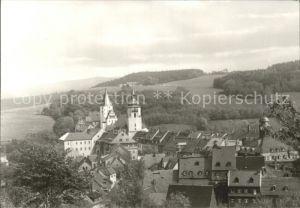 Schwarzenberg Erzgebirge Teilansicht mit Schloss Kat. Schwarzenberg